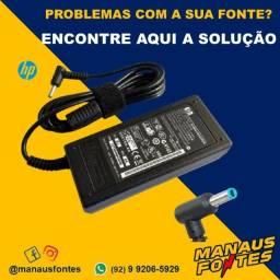 Fonte Carregador Notebook HP 19.5V3.33A 65W Ponta Azul Whatsapp na Descrição