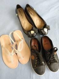 3 calçados Tam 31