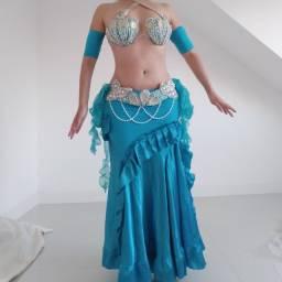 Figurinos para DuPLA Dança do Ventre Sereia M Azul
