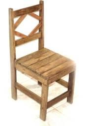 Cadeira madeira de lei (canela)