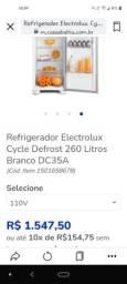 Refrigerador electrolux Cycle Defrost 260litros. Branco e cinza.