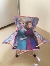 Cadeira Camping Dobrável Infantil Disney Frozen