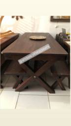 Jogo de Terraco de madeira maciça