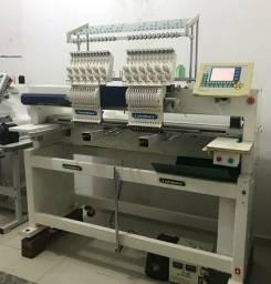 Máquina de Bordado industrial Lanmax 2 cabeças com 12 agulhas