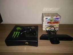 Xbox 360 Slim + 12 Jogos + Kinect + 1 Controle