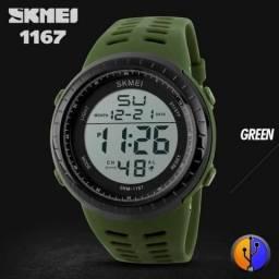Skmei 1167 Relógio de Pulso Esportivo Masculino Digital LED - Exército Verde