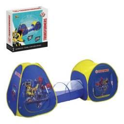 Barraca Transformers Túnel Toca Infantil 100 Bolinhas