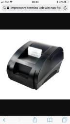 Impressora térmica não fiscal usb 58 mm. Apenas zap
