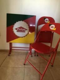 Mesa e 2 cadeiras de metal - Polar