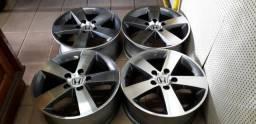 Rodas 16 Honda Civic (diamantadas cor grafite)