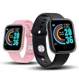 Relógio inteligente smartwatch D20 com Bluetooth.