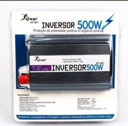 Inversores de 500w / Converte a Energia de 12v de veículos em 110v / Poucas Unidades