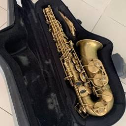 Sax Alto Borgani Vintage + Estojo Bam - Único Dono!
