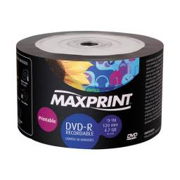 DVDs/CDs virgem novos na embalagem para gravação