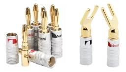 Plug Banana Nakamichi para Caixas Acústicas e Receivers
