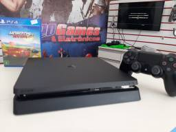 PlayStation 4 slim 500gb seminovo com garantia  é Na Leogames