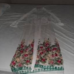Cardigan transparente.