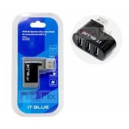 Título do anúncio: Mini Hub USB 3 Portas LE-5561 - Lelong
