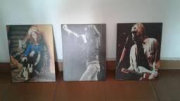 3 quadros rock janis joey e kurt comprar usado  Praia Grande