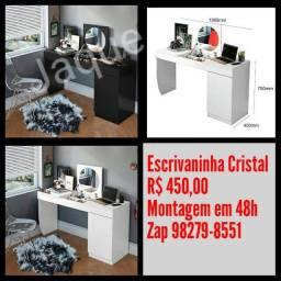 Escrivaninha Cristal/ Montagem Grátis.