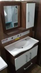Kit pia e espelho para banheiro