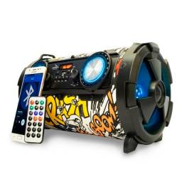 Caixa De Som Bluetooth Portatil Potente Aux P2 Recarregável envio24hrs