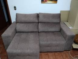 Sofá retrátil e reclinável 3 lugares