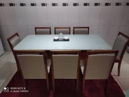Mesa LUNA de jantar completa 8 lugares nova