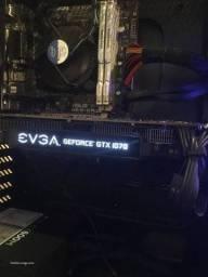 Placa de Vídeo EVGA Geforce GTX 1070 SC Gaming 8GB ACX 3.0 Black Edition<br><br>