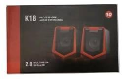 Caixa de Som K18 p/ Pc Computador/dvd projetor etc