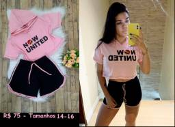 Conjunto feminino now united ou free fire