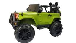 Mini carro elétrico Infantil Jeep com controle remoto 12v Outlet