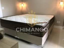 Cama Cama Box + Colchao Gold ultragel super king 193x203 Melhor Preço Confira