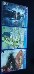 Jogos PS4 FIFA 17, GOD OF WAR 3 E UNCHARTED 4