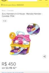 Brinquedo Hamsters Mansão + Supermercado