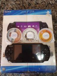 Raridade Playstation PSP desbloqueado com caixa e encartes