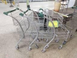 Carrinho de supermercado duplo 90 litros