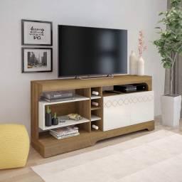 Rack Artely Montreal com 2 Portas, Ideal para TVs até 60 Polegadas - Entrega Imediata;
