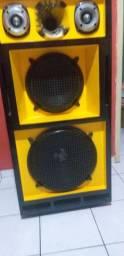 Caixa de som seca sem os acessórios da frente