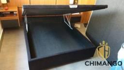 Cama Cama Box Bau Blindada Na Madeira 138x188 A Pronta Entrega Melhor Preço