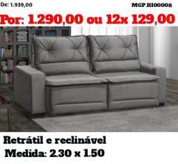 Feirão de Sofa - Sofa Retratil e Reclinavel Top de Linha