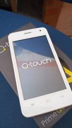 Celular novo na caixinha Q.touch 4gb