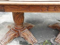 Mesa de centro antiga madeira