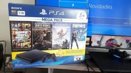 PS4 Slim 1 Tera Novo Caixa Nota e na Garantia