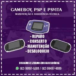 Assistência Técnica PSP, PSVita e GameBoys