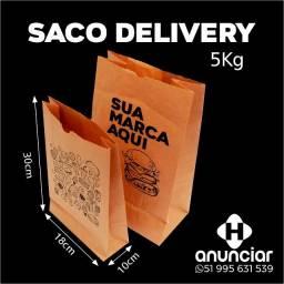 Saco delivery 5kg 250 unidades