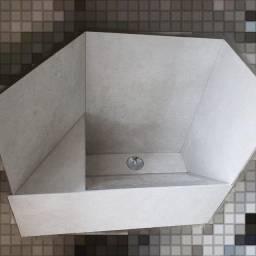 Tanque de lavanderia em porcelanato
