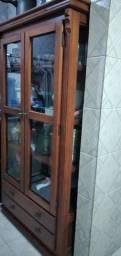 Cristaleira américa madeira 2 portas c/ 2 gavetas