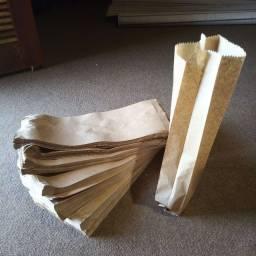 Título do anúncio: Sacolas de papel kraft 270 unidades