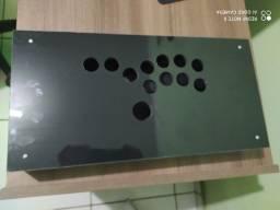 Caixa Controle Arcade Hitbox 24mm Preto Brilhoso S/ Conector